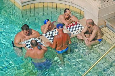 Chess in the pool